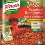 Fix Spaghetti Bolognese extra ziołowe do pomidorów z puszki - idzie nowe, mocno pomidorowe