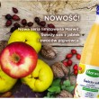 Świeży sok z jabłek i owoców pigwowca