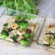 Uszka z mięsem zapiekane z brokułami pod serową pierzynką