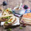 Grzanki z serem Maasdamer i słodkim akcentem z figi