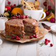 SZYBKI  TORT POMARAŃCZOWY Z ŻURAWINĄ I LUKREM