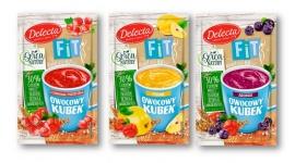 Owocowy kubek FIT Delecta – pierwszy, lekki kisiel z superfoods LIFESTYLE, Żywienie - Nowy Owocowy Kubek FIT to pierwsza na rynku linia niskokalorycznych kisieli instant z dodatkiem amarantusa, komosy ryżowej i aceroli oraz zdrowych owoców - aronii, pigwy i czerwonej porzeczki.