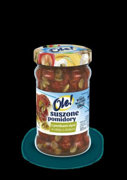 Suszone pomidory Ole! … teraz z pestkami dyni! LIFESTYLE, Żywienie - Suszonych pomidorów nie trzeba nikomu przedstawiać, ponieważ mają już wielu wielbicieli, którzy nie wyobrażają sobie bez nich tostów, pizzy, jajecznicy czy spaghetti.