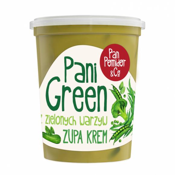 Pani Green, nowa zupa marki Pan Pomidor&Co. – wiosenna oferta dla zapracowanych LIFESTYLE, Żywienie - Wraz z sezonem wiosennym firma Pan Pomidor&Co. przygotowała kulinarne niespodzianki dla żyjących w biegu, ale spragnionych pysznej porcji wartościowych składników. Na sklepowych półkach gości już Pani Green, zupa krem z zielonych warzyw.