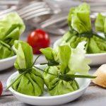 Przepis na zielone kieszonki z wędzonym twarogiem i pastą z pestkami słonecznika