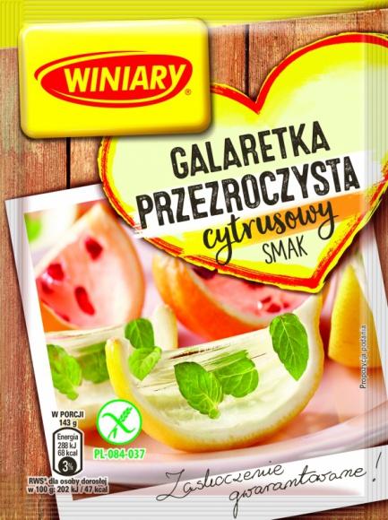 Nowy pyszny smak Galaretki Przezroczystej WINIARY! Odkryj cytrusową NOWOŚĆ! LIFESTYLE, Żywienie - Nowy pyszny smak Galaretki Przezroczystej WINIARY! Odkryj cytrusową NOWOŚĆ!