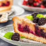 Ciasto cytrynowe z jeżynami i Earl Grey