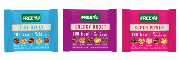 Nowość marki FreeYu – Baton 100 kcal LIFESTYLE, Żywienie - Batony 100 kcal FreeYu to seria trzech, zdrowych, wygodnych w użyciu i szybko zaspokajających głód przekąsek.