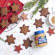 Orzechowe gwiazdki Pyszne ciasteczka z masłem orzechowym Sante crunchy